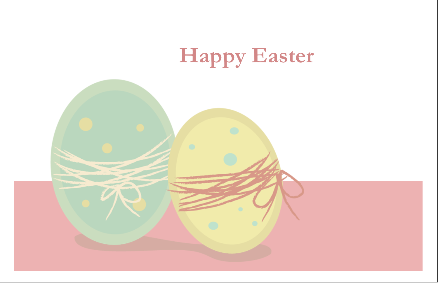 "5½"" x 8½"" Greeting Card - Paired Eggs"