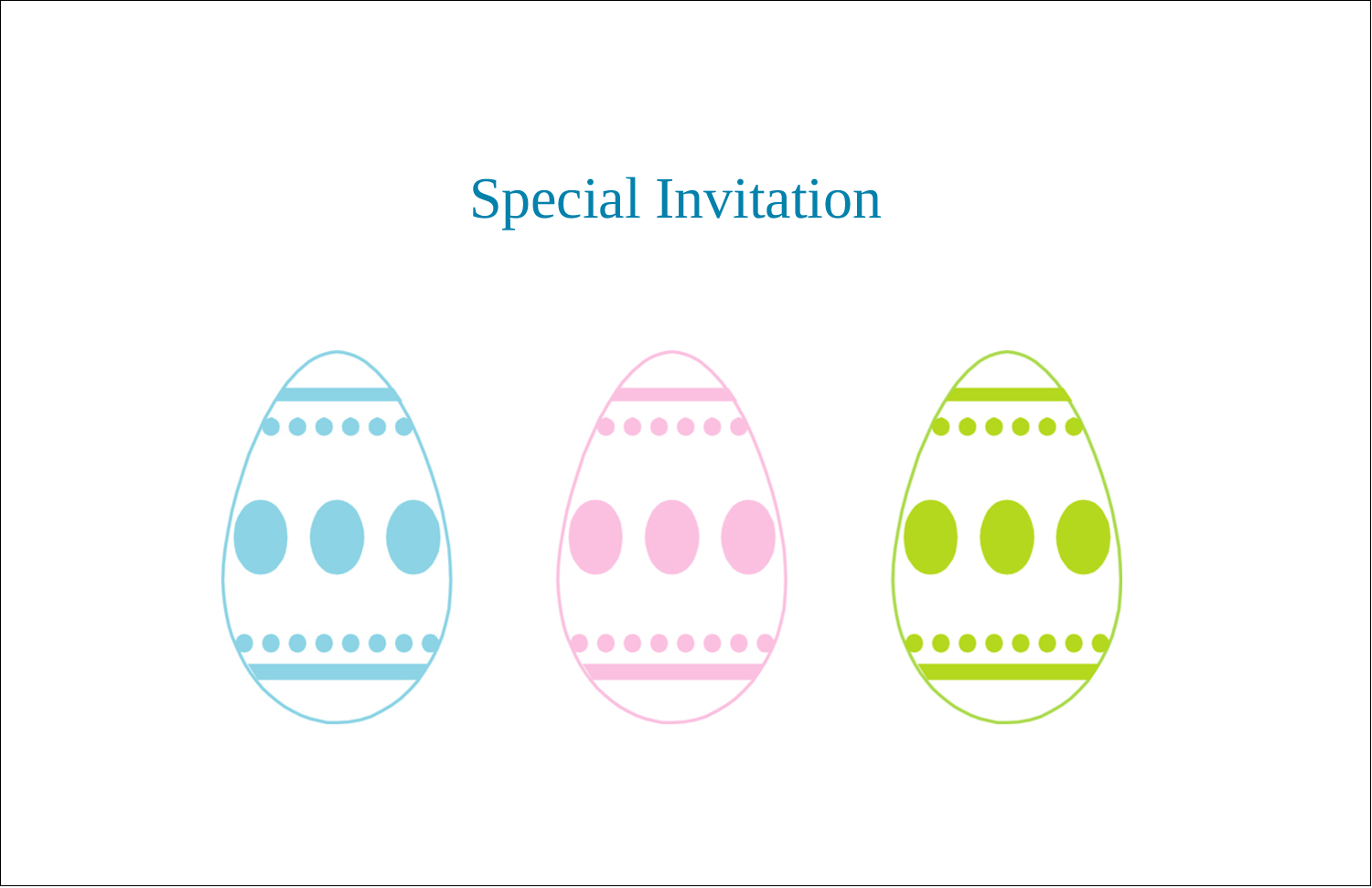 """5½"""" x 8½"""" Greeting Card - Easter Egg Trio"""