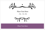 Enhance projects with easy-to-customize pre-designed Filigree Purple templates.