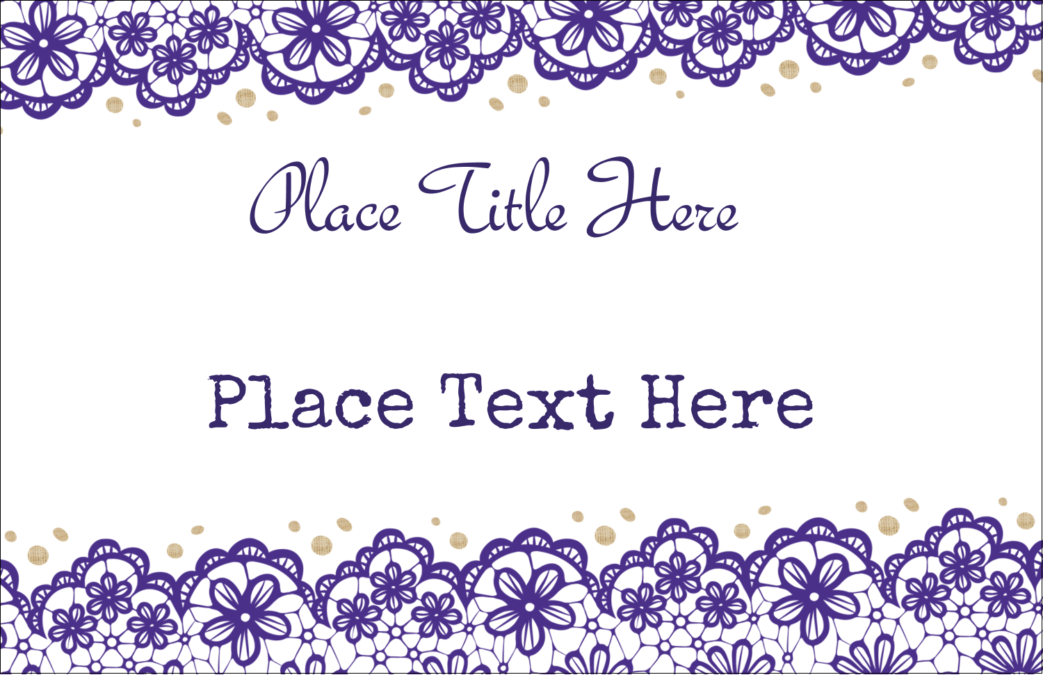 "5½"" x 8½"" Greeting Card - Purple Lace Wedding"