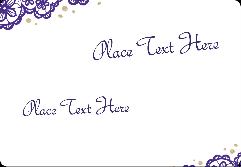 "3⅜"" x 2⅓"" Name Tags - Purple Lace Wedding"