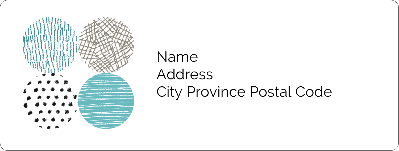"1"" x 2⅝"" Address Label - Urban Circles Blue"