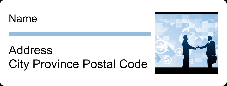 "1"" x 2⅝"" Address Label - Business Handshake"