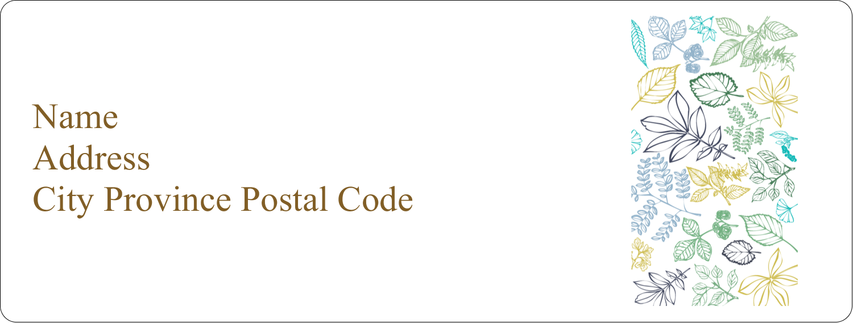 "1"" x 2⅝"" Address Label - Pastel Foliage"