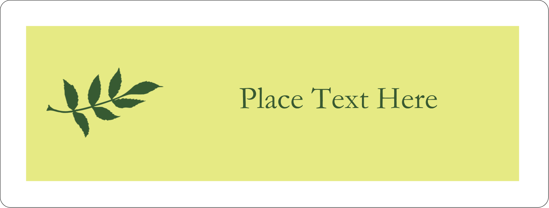 "2⅝"" x 1"" Fluorescent Label - Olive Branch"