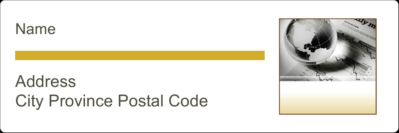 "1⅓"" x 4"" Address Label - Finance Report"