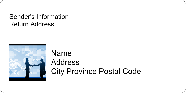 "2"" x 4"" Shipping Label - Business Handshake"
