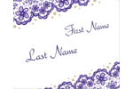 Pop springtime colour into your project with the Purple Lace Wedding pre-design template.
