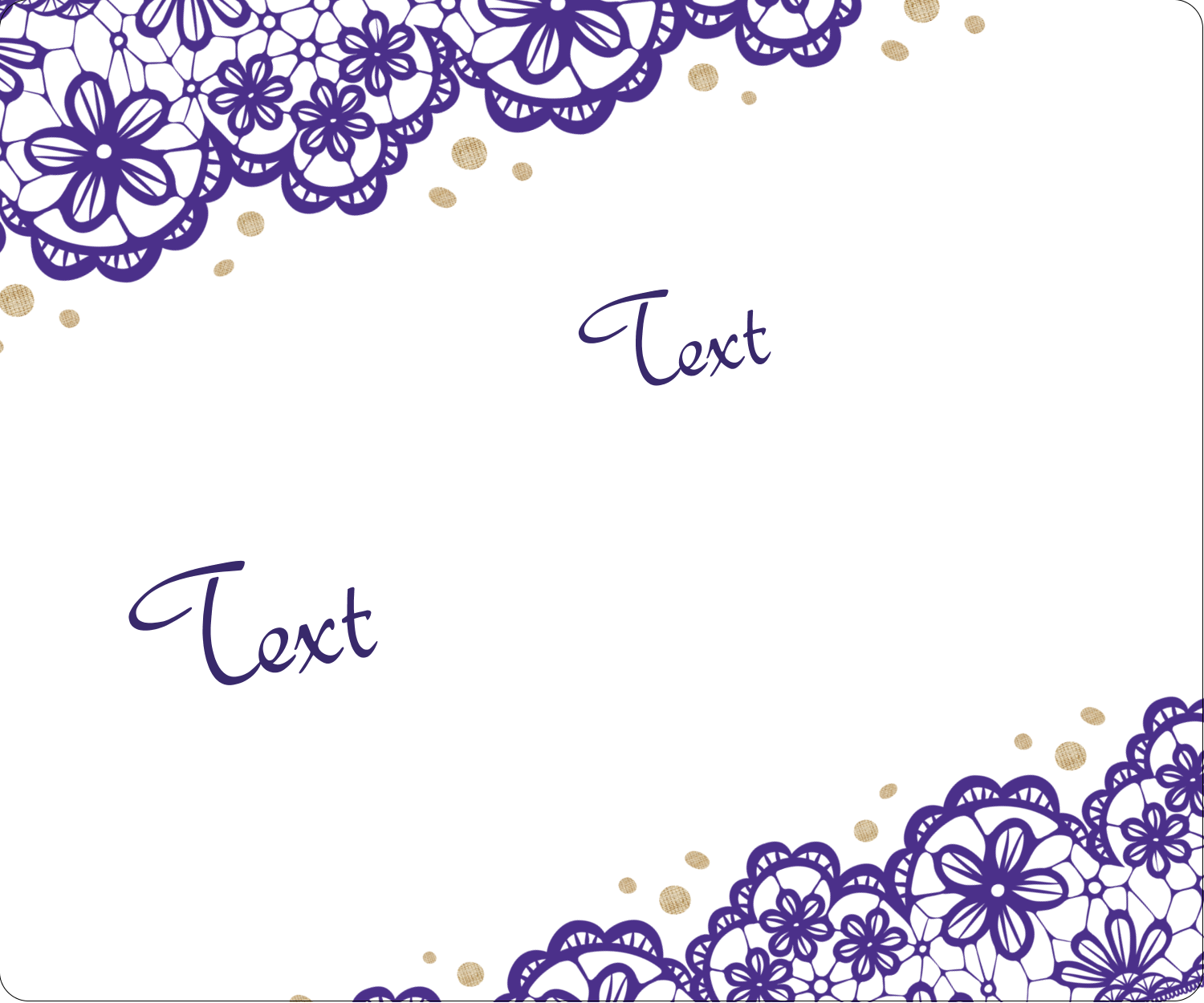 "4"" x 3⅓"" ID Label - Purple Lace Wedding"