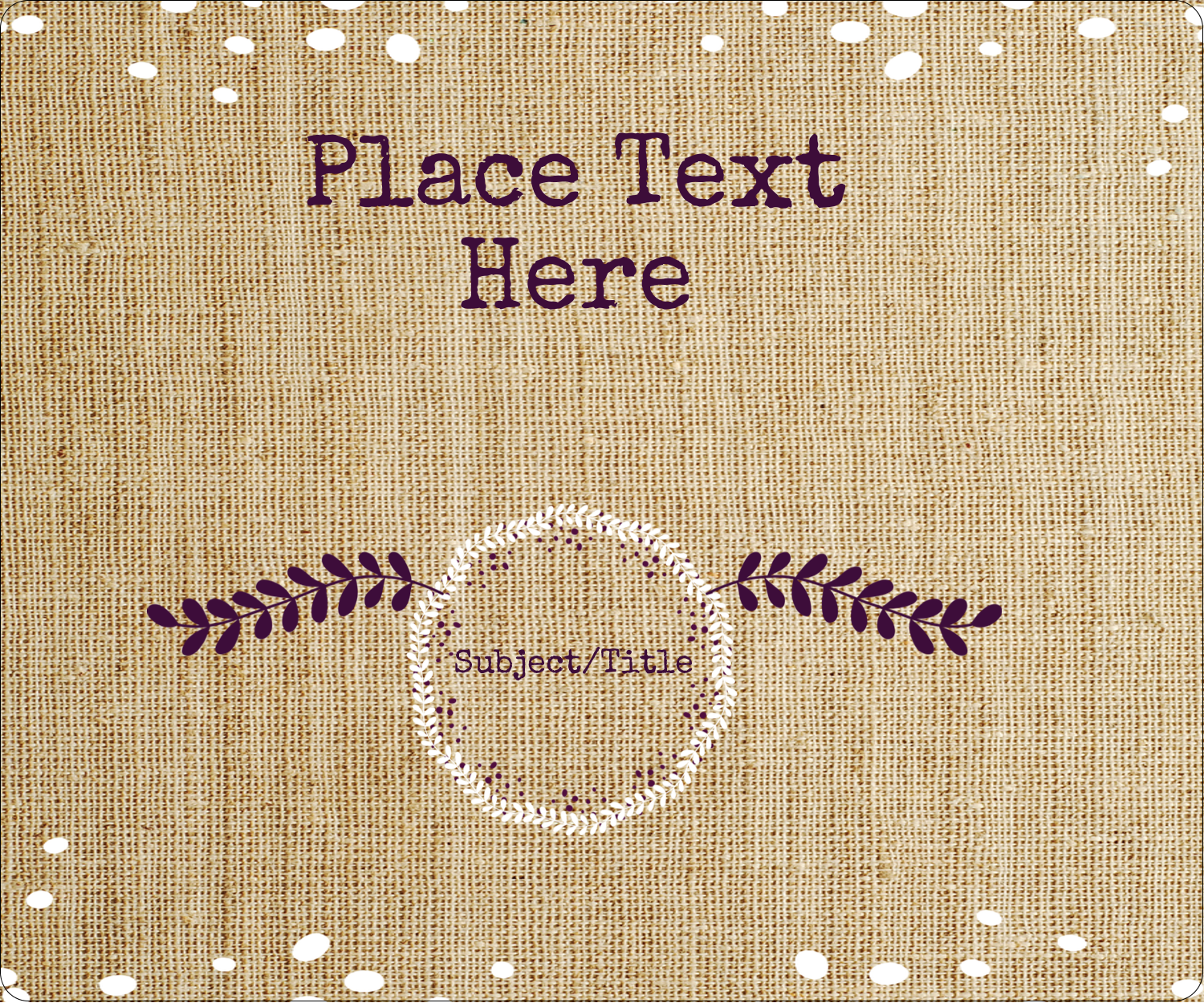 "4"" x 3⅓"" ID Label - Fringed Burlap"