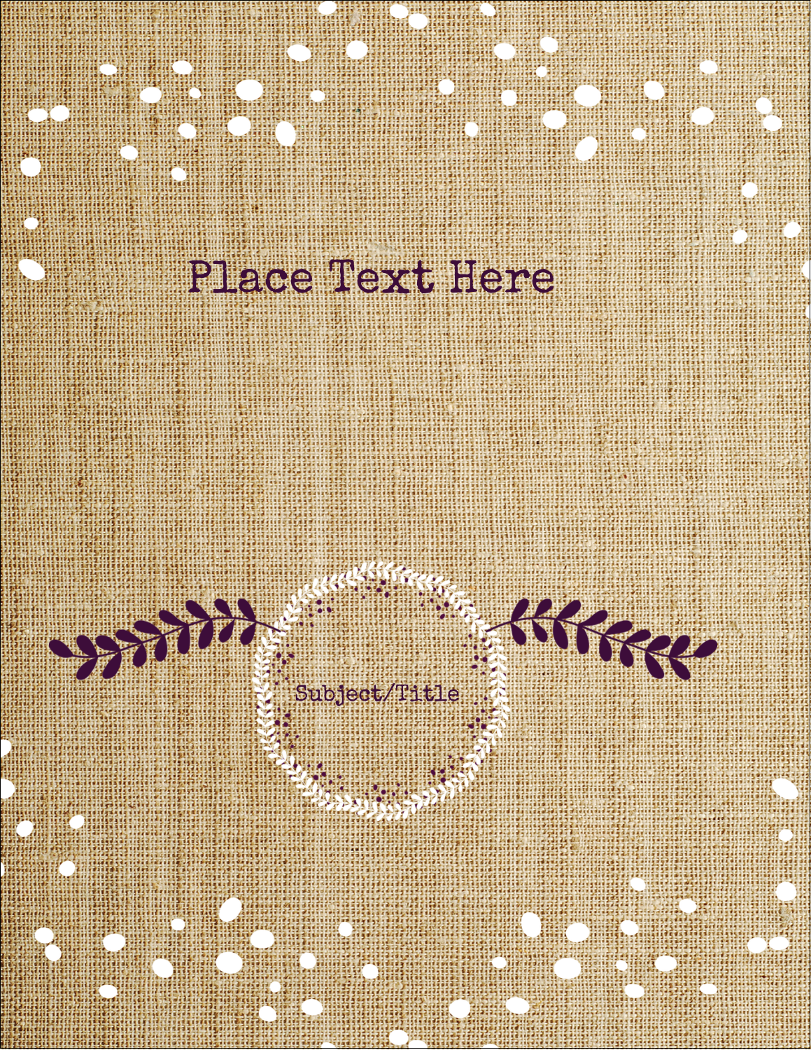 "8½"" x 11"" Sticker Project Paper - Fringed Burlap"