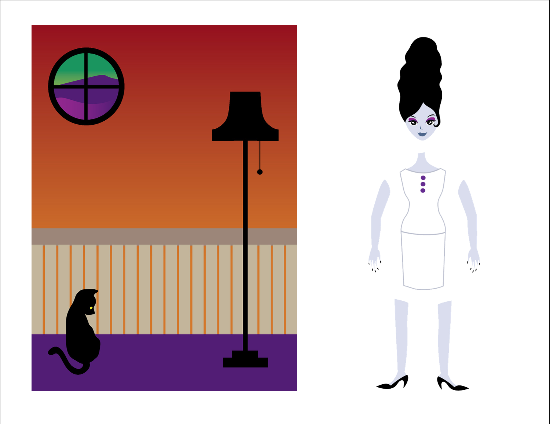 "11"" x 8½"" Magnet Sheets - Frankenstein and Bride"