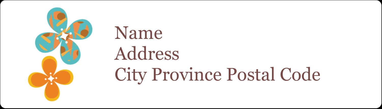"½"" x 1¾"" Address Label - Floral Pattern"