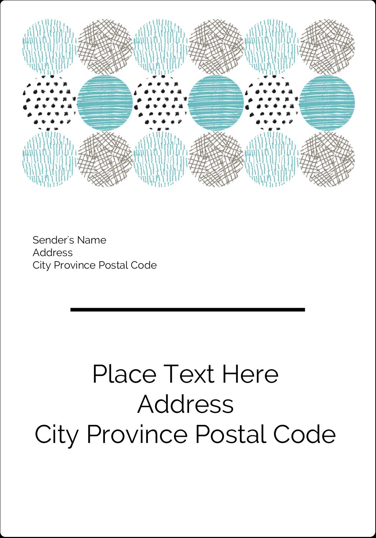 "5"" x 3½"" Shipping Label - Urban Circles Blue"