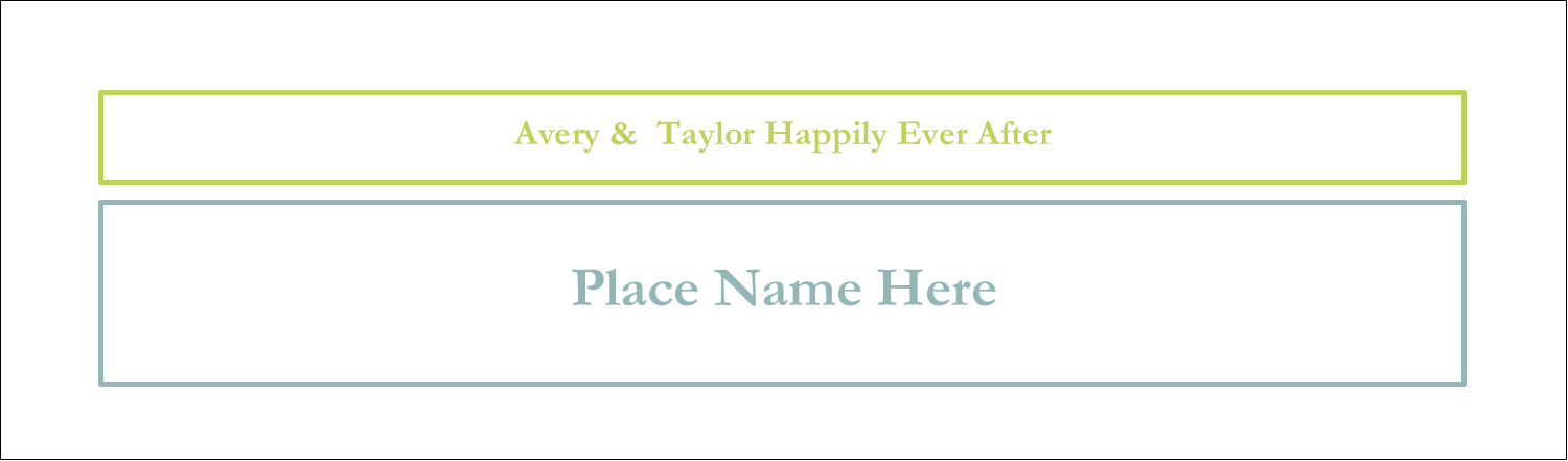 "2½"" x 8½"" Tent Card - Blue Green Blooms"
