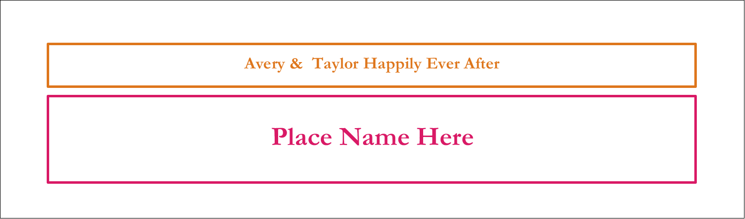 "2½"" x 8½"" Tent Card - Bridal Shower Pink Orange"