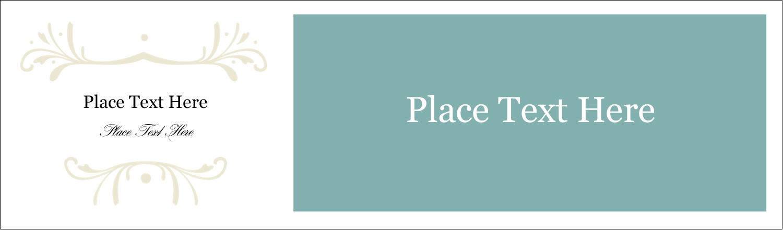 """2½"""" x 8½"""" Tent Card - Filigree Green"""