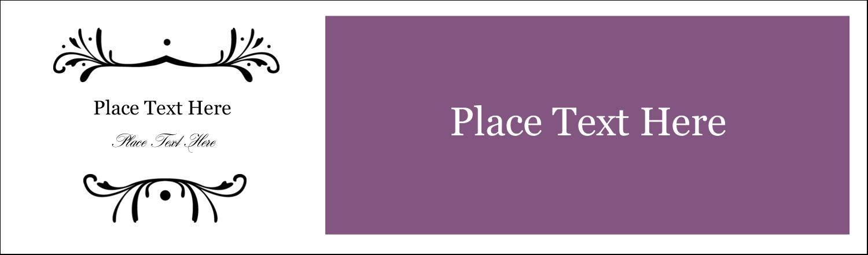 """2½"""" x 8½"""" Tent Card - Filigree Purple"""