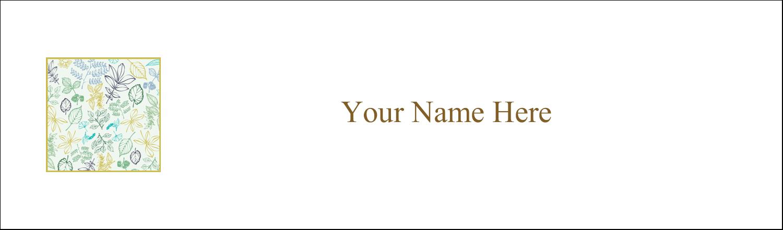 "2½"" x 8½"" Tent Card - Pastel Foliage"