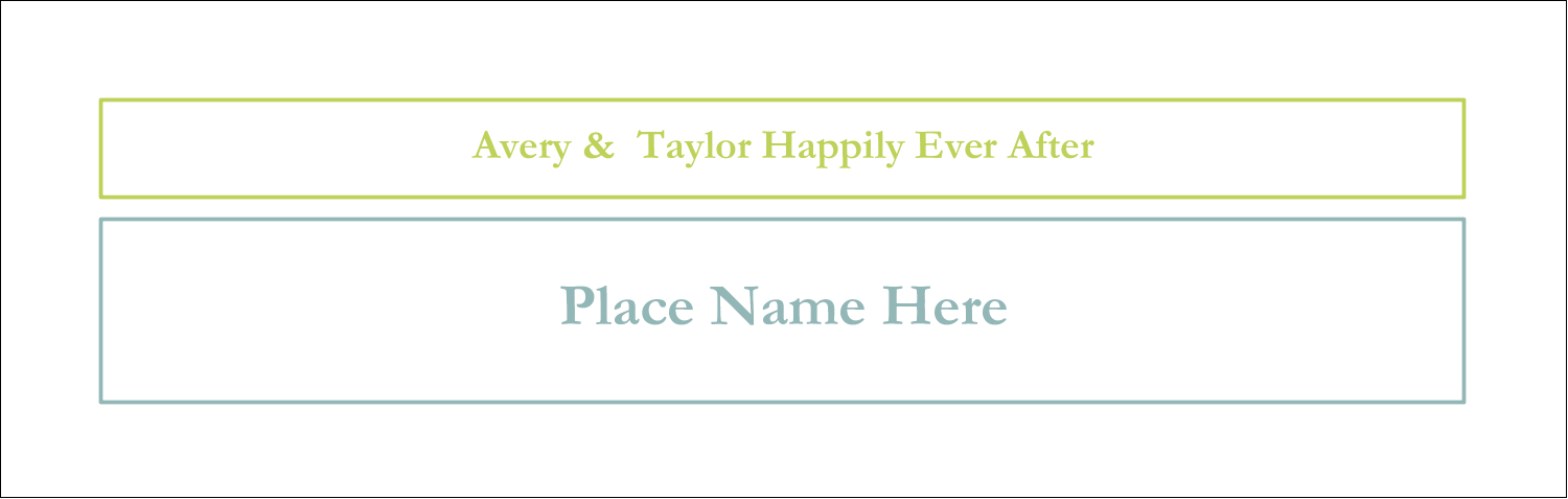 "3½"" x 11"" Tent Card - Blue Green Blooms"