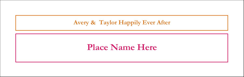 "3½"" x 11"" Tent Card - Bridal Shower Pink Orange"