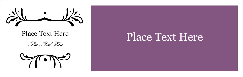 """3½"""" x 11"""" Tent Card - Filigree Purple"""