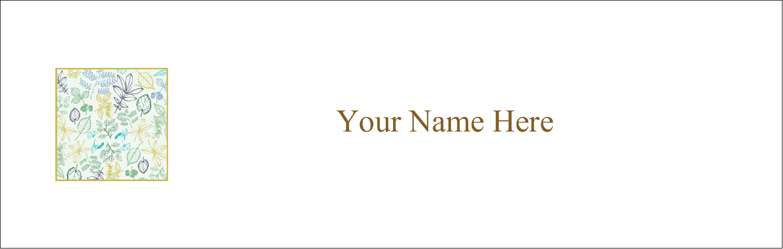 "3½"" x 11"" Tent Card - Pastel Foliage"
