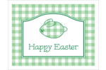 Create a hoppy Easter with a precious plaid bunny onto all your Easter decorations.