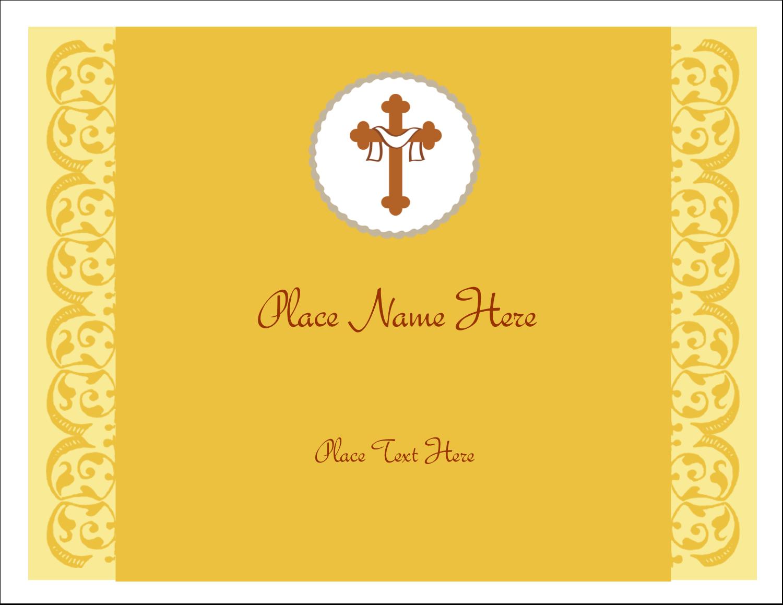 """5½"""" x 4¼"""" Note Card - Crucifix"""