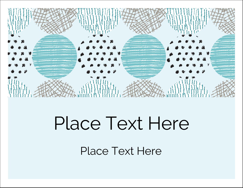 """5½"""" x 4¼"""" Note Card - Urban Circles Blue"""