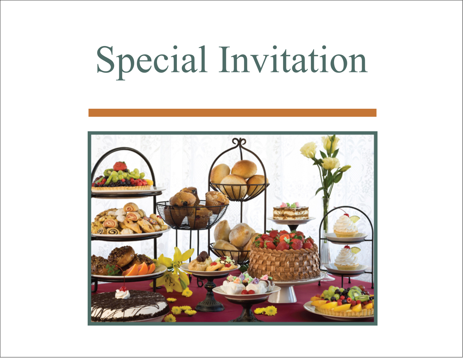 "5½"" x 4¼"" Note Card - Desserts and Breads"