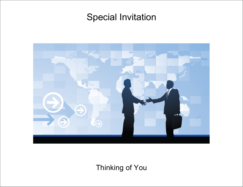 "5½"" x 4¼"" Note Card - Business Handshake"