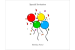 Get the party started with easy-to-customize pre-designed Four Balloons templates.