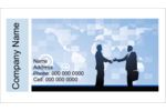 Add a professional tone to projects with pre-designed Business Handshake templates.