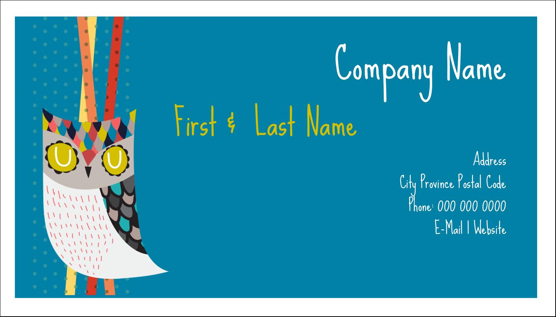 "2"" x 3½"" Business Card - Artful Owl"
