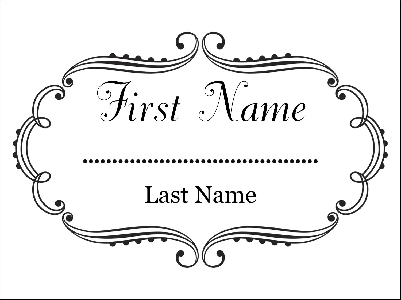"""3"""" x 4"""" Name Tags - Martha Stewart's Whimsical Wedding"""
