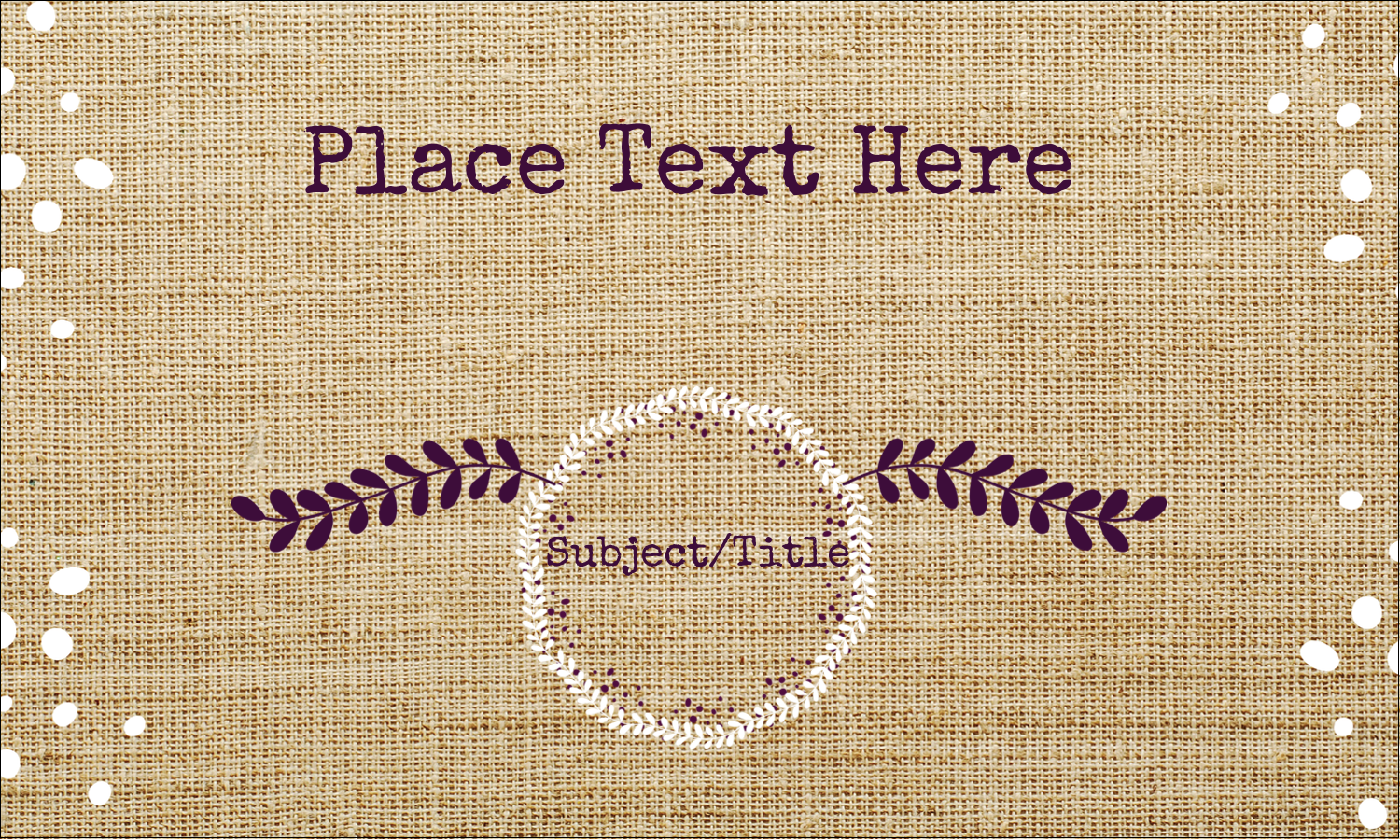 "3"" x 5"" Index Card - Fringed Burlap"