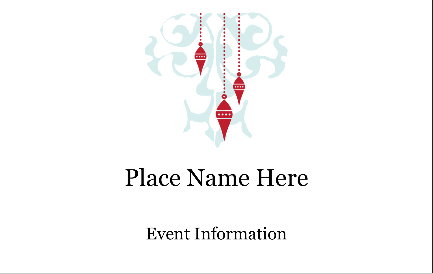 2¼ x 3½ Name Tags - Elegant Christmas