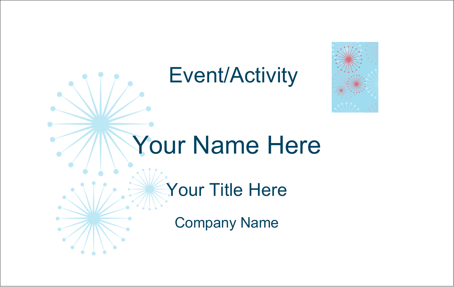 2¼ x 3½ Name Tags - Simple Celebration