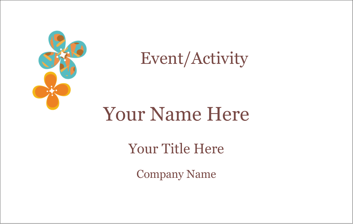 2¼ x 3½ Name Tags - Floral Pattern