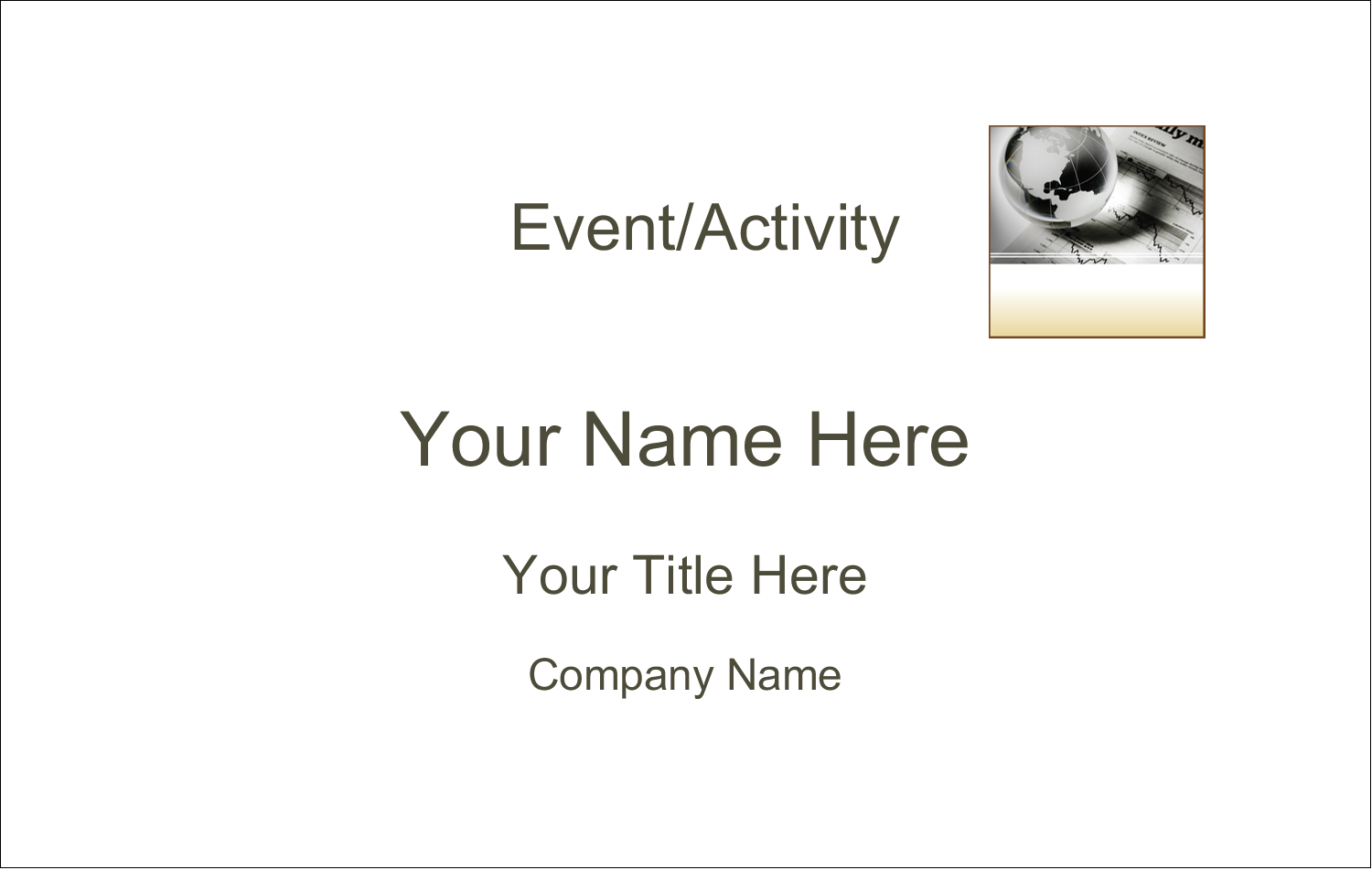 2¼ x 3½ Name Tags - Finance Report