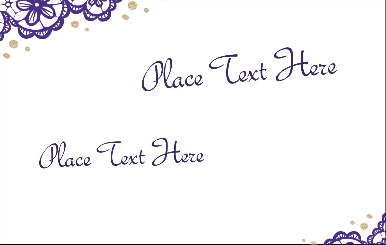 2¼ x 3½ Name Tags - Purple Lace Wedding