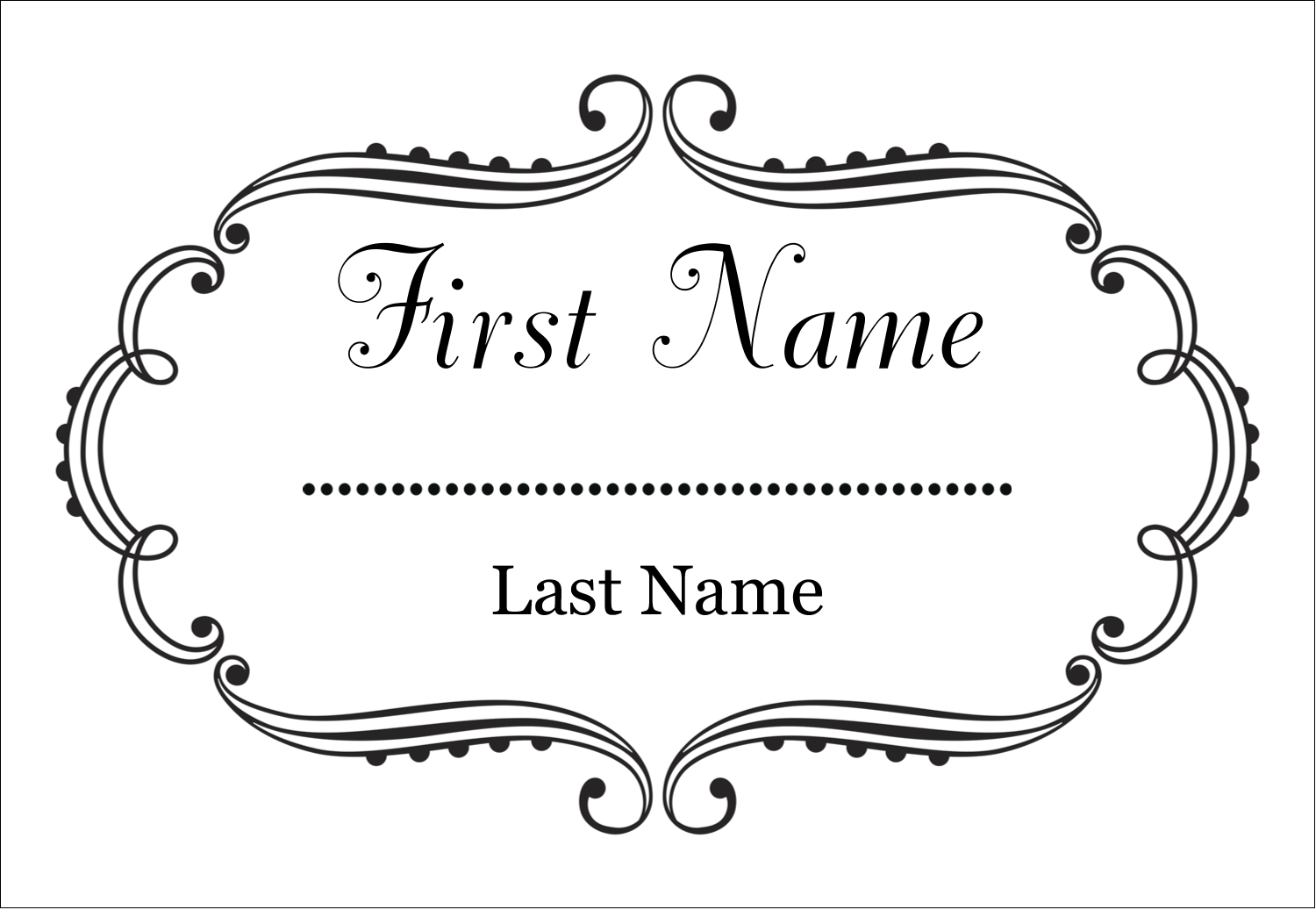"3⅜"" x 2⅓"" Name Badge - Martha Stewart's Whimsical Wedding"