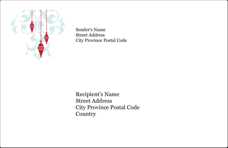 "5½"" x 8½"" Shipping Label - Elegant Christmas"