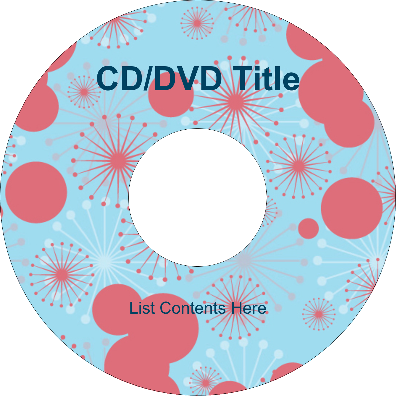 "4.65"" CD-DVD Label - Simple Celebration"
