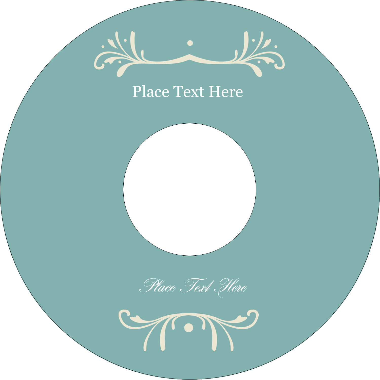 "4.65"" CD-DVD Label - Filigree Green"