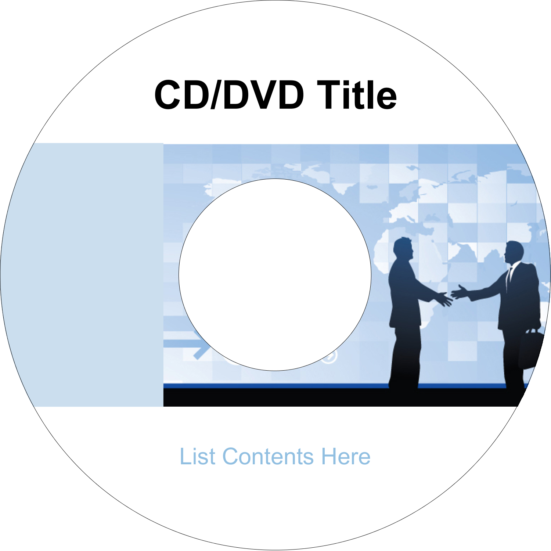 "4.65"" CD-DVD Label - Business Handshake"
