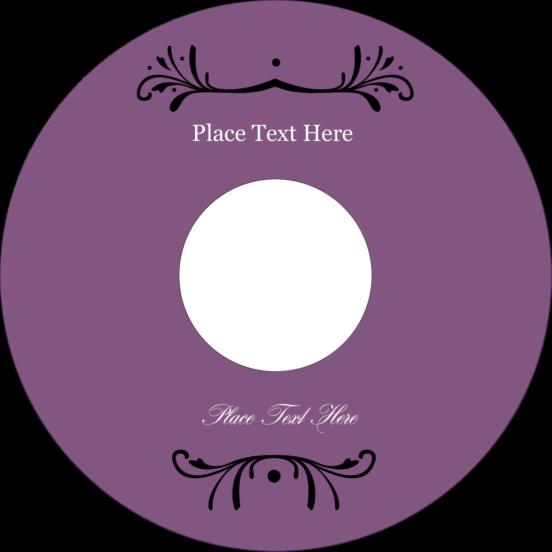 "4.65"" CD-DVD Label - Filigree Purple"