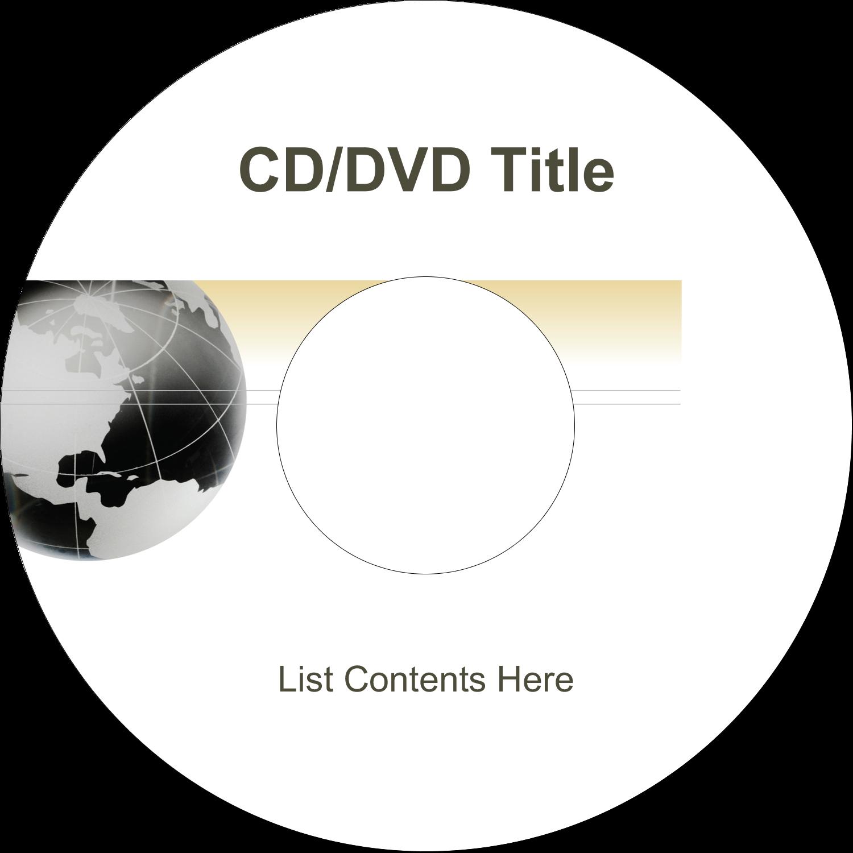"4.65"" CD-DVD Label - Finance Report"