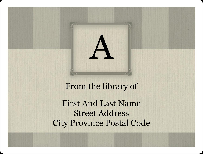 "2⅝"" x 2"" ID Label - Bookplate Initial"